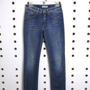 Womens Acne Straight Leg Jeans